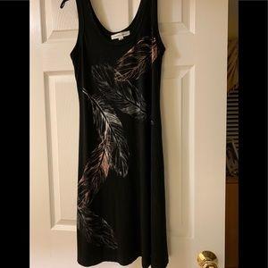 Karen Kane Black tank top A line Mini dress, sz M.